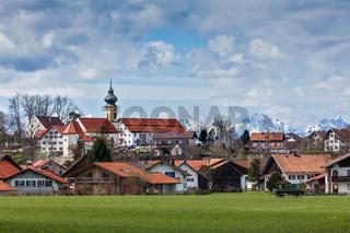 German countryside and village. Bavaria