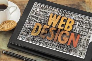 web design on digital tablet
