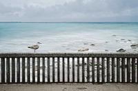 Strandpromenade, Grandcamp-Maisy, Normandie, Frankreich
