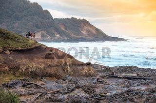 Amerika raue Pazifikküste Oregon bei Florence