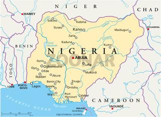 Nigeria Landkarte