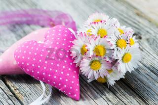 Gänseblümchen mit Herz