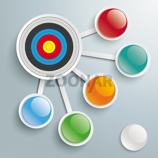 Infographic Target 5 Connected Buttons PiAd