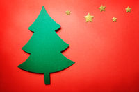 Handmade paper craft Christmas tree