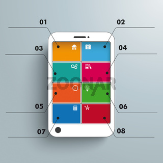 White Smartphone 6 Options Infographic PiAd