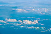 clouds. view from the window of an airplane.  Sky and clouds. Plane view from the window