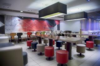 modern public cafe