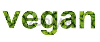 Vegan Gemüse und Kräuter