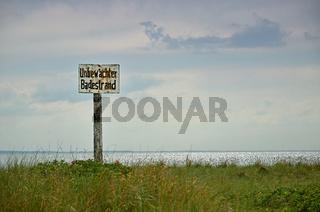 unbewachter Strand