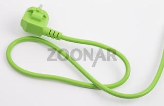 Grünes Stromkabel