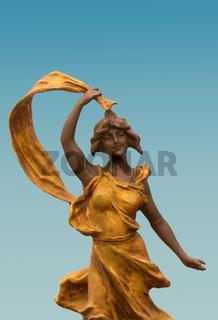 Jugendstil Bronze Goettin