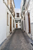 Typical Whitewashed Andalusian Street in Nijar