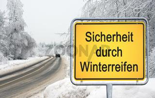 Sicherheit durch Winterreifen