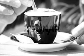 Cappuccino Black and white