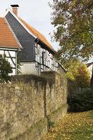 Stadtmauer in Hattingen, NRW, Deutschland