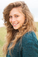 Beautiful young smiling woman