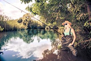 fishing woman