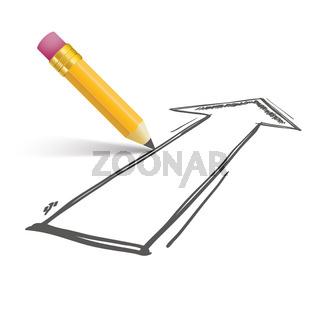 Pencil Shadow Arrow Growth