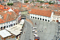 Sibiu city aerial view