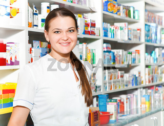 Portrait of female pharmacist
