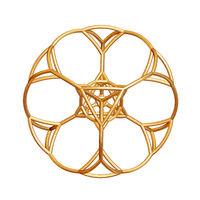 Simple-golden-mandala-isolated-on-white
