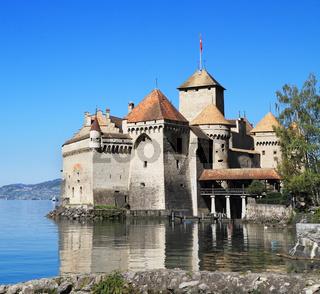 The Castle of Chillon on Lake Geneva
