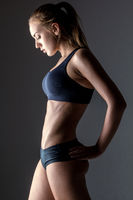 profile of young fitness woman