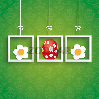 Easter Ornaments Egg Flowers Frames