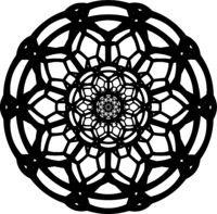 Complicated-vector-contour-of-geometrical-mandala