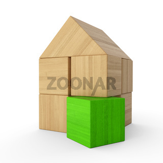 Holzhaus Baustein Konzept - Grün 2
