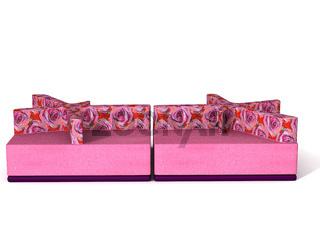 Designersofa mit Kissen