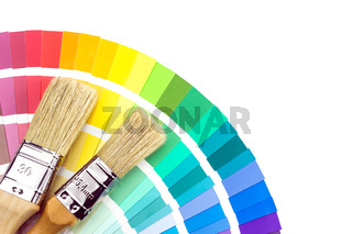 Brushes for paint over color samles catalog