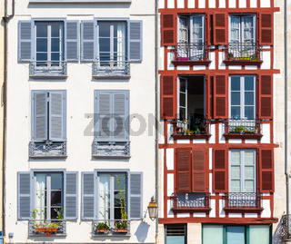 Building facade in Bayonne