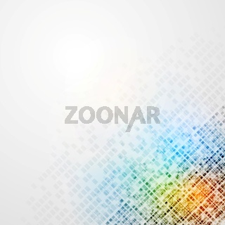 Colorful tech vector background