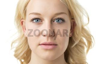 Face blond woman
