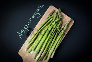 Asparagus Written on a Chalkboard