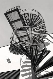 Treppe zum Dach