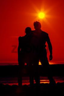 Zwei im Sonnenuntergang 6