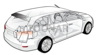 Car infographics cutaway