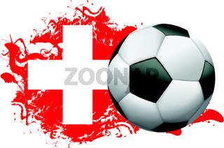 Switzerland Soccer Grunge Design