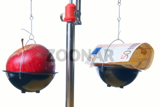 Red apple vs. cash supplements