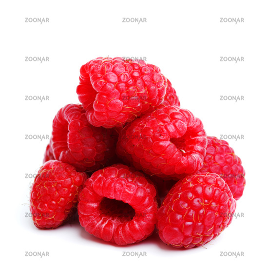 raspberry pile isolated on white