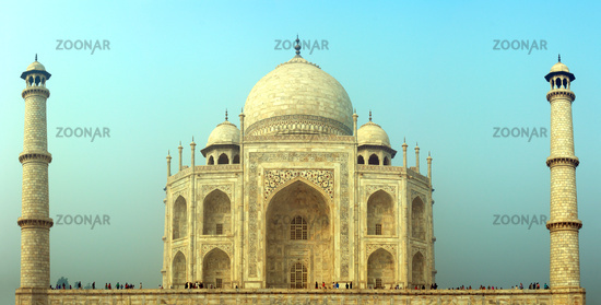 Taj Mahal - famous mausoleum in India