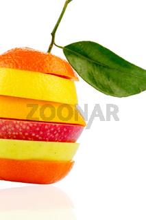 Verschiedne Scheiben von Früchten