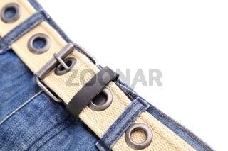 Frame. Jeans and belt.