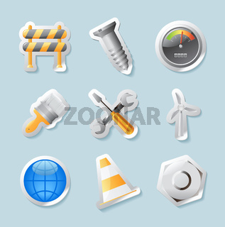 Sticker icons for industry