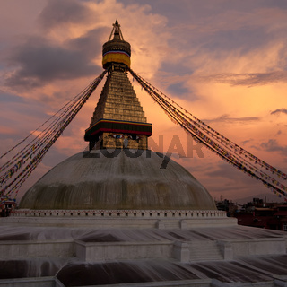 Buddhist Shrine Boudhanath Stupa. Nepal, Kathmandu