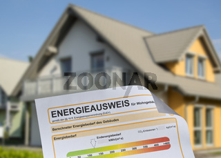 Haus mit Energieausweis