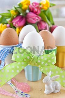 Gekochte Eier zu Ostern