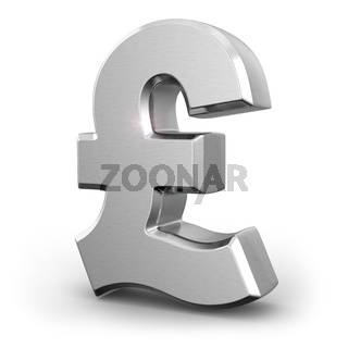 Silver pound currency sign